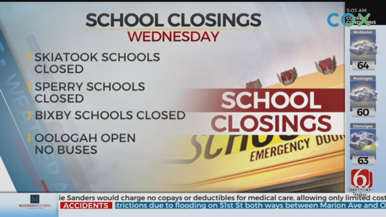 Multiple Northeastern Oklahoma Schools Closed After Storms