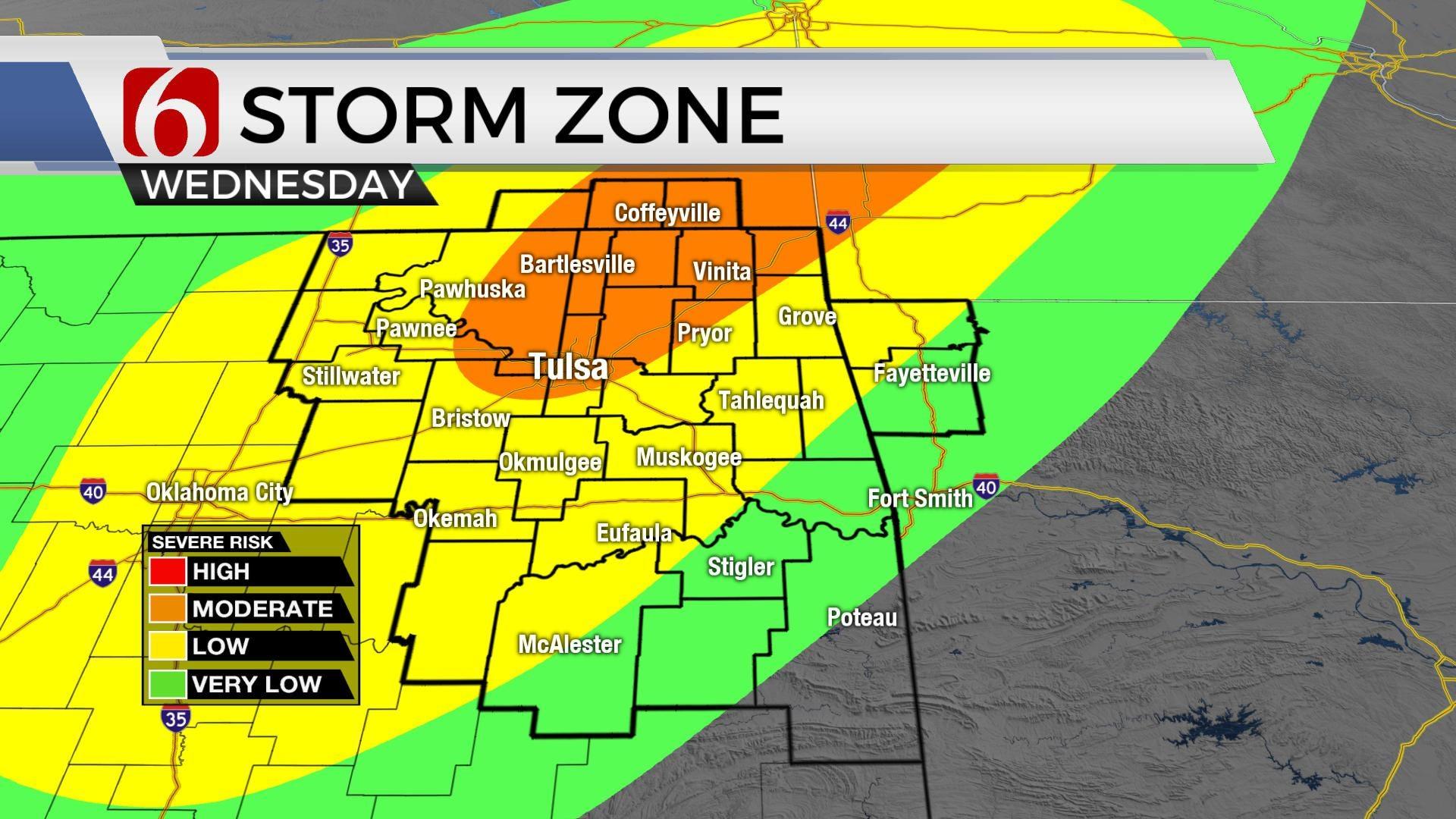 Severe Weather Returns To Northeast Oklahoma Wednesday