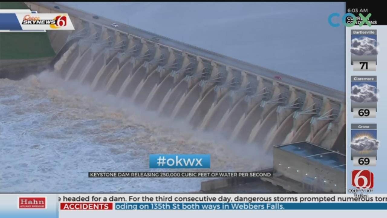 Tulsa Army Corps of Engineers To Increase Releases At Keystone Dam