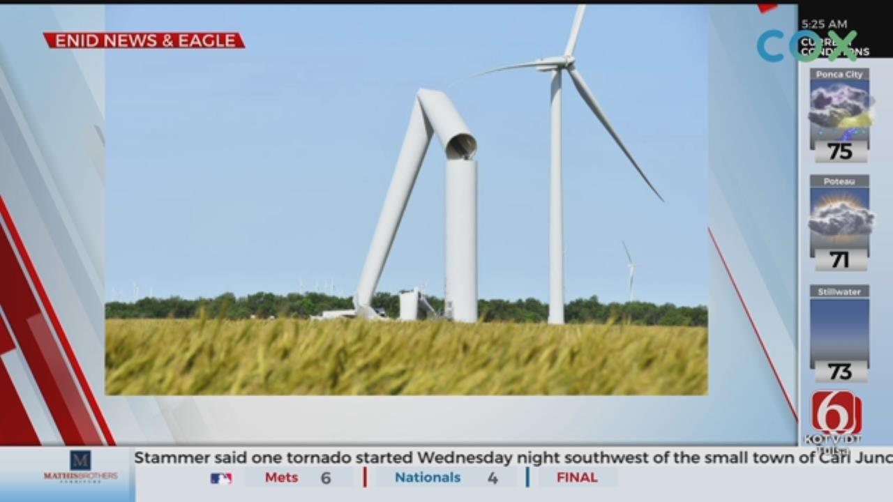 Turbine Buckles, Collapses On Oklahoma Wind Farm