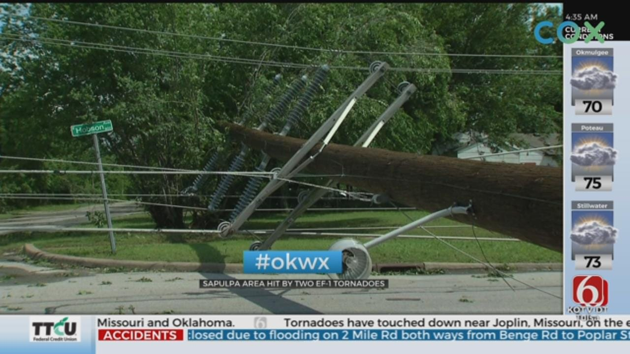 Some Sapulpa, Kellyville Residents Still Without Power