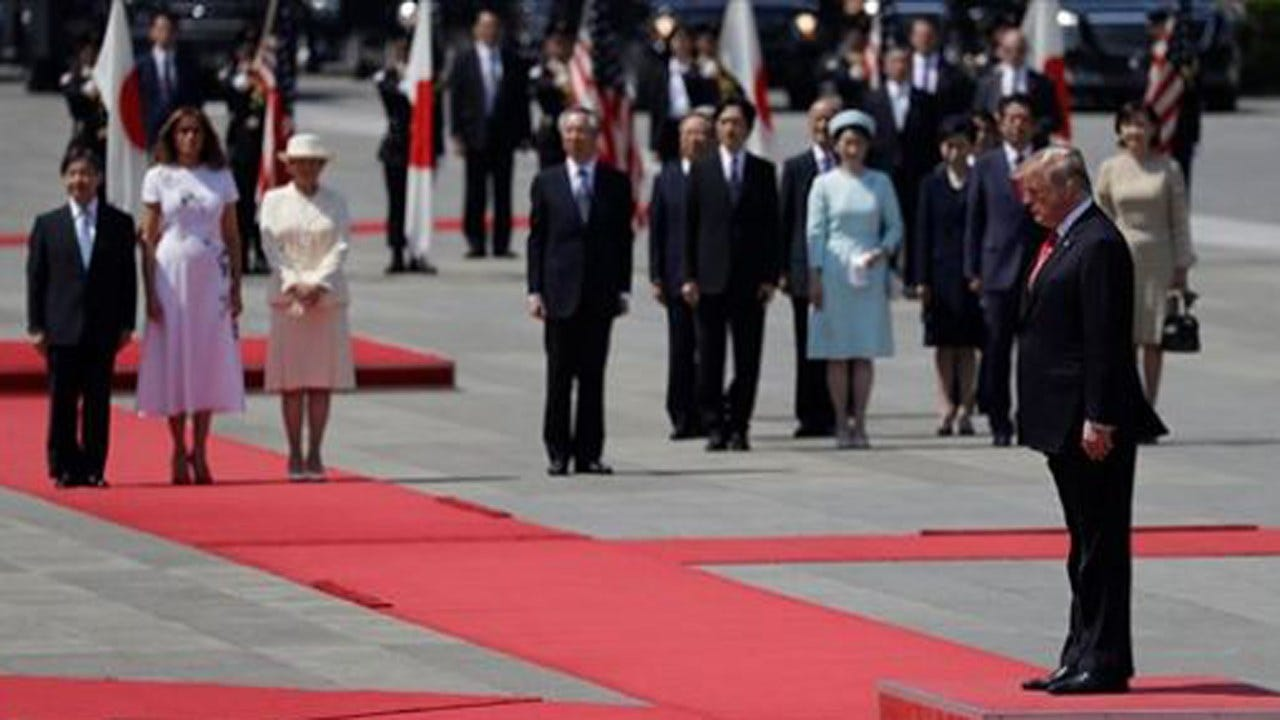 Trump Is First World Leader To Meet Japan's New Emperor