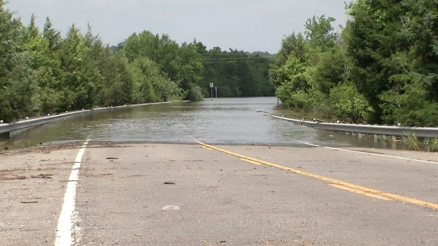 All Roadways Into Braggs Cut Off By Flood Water