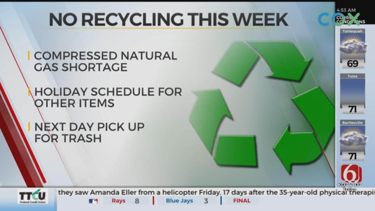 Compressed Natural Gas Shortage Halts Tulsa Recycling Pick Up