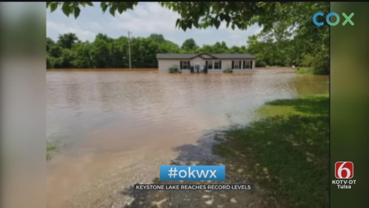 Keystone Lake Reaches Record High Level