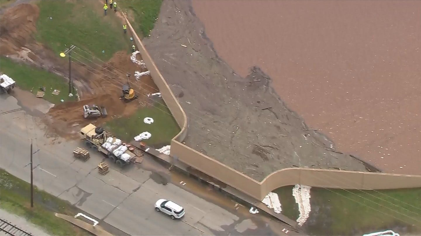 Officials Working To Shore Up Tulsa County Levees