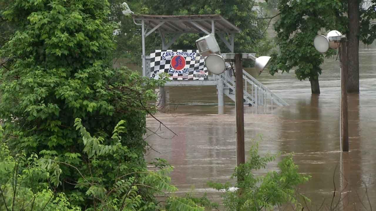 Sand Springs Non-Profit BMX Course Under Water