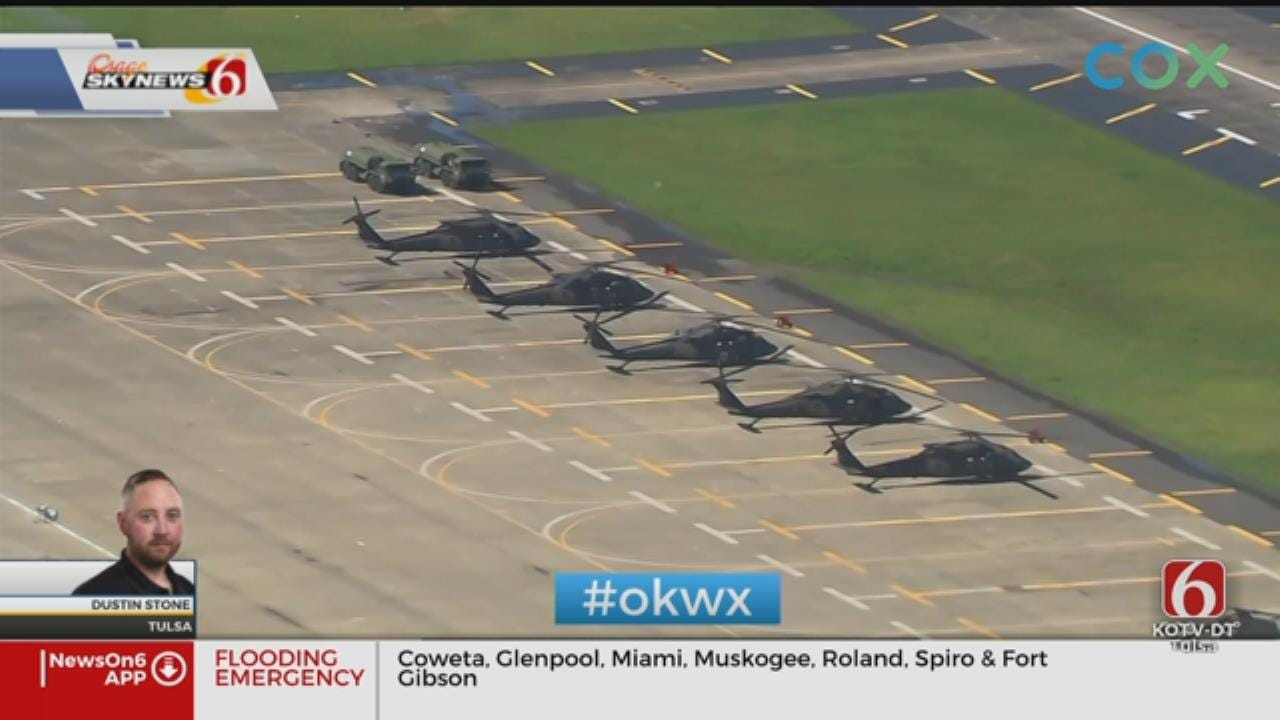 Chinooks, Black Hawks Stand Ready To Help With Oklahoma Flooding