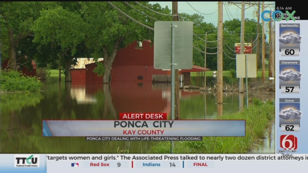 Ponca City Under Extreme Flood Warning