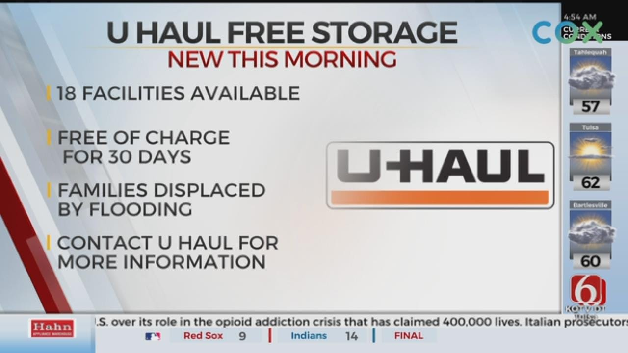 U-Haul Offers 30 Days Free Storage For Flooding Victims