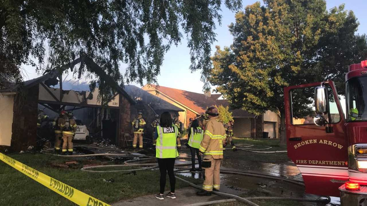 Home A Total Loss After House Fire In Broken Arrow