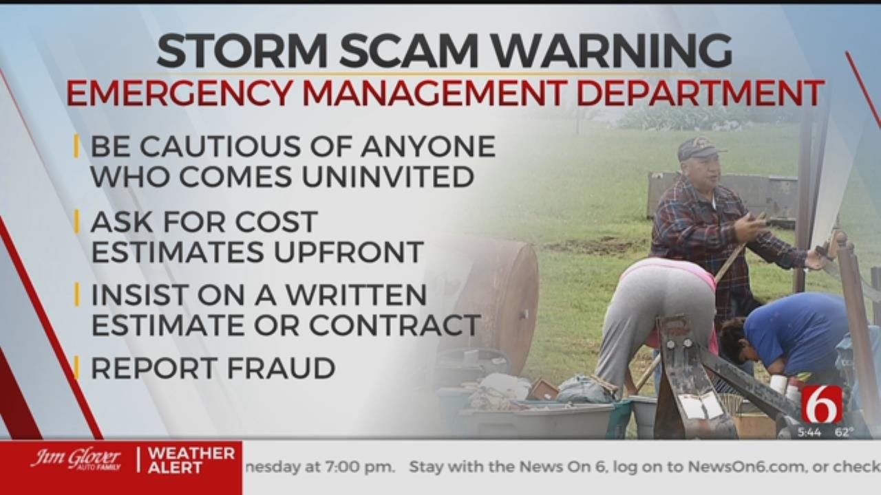 Oklahoma Emergency Management Warns Of Storm Damage Scams