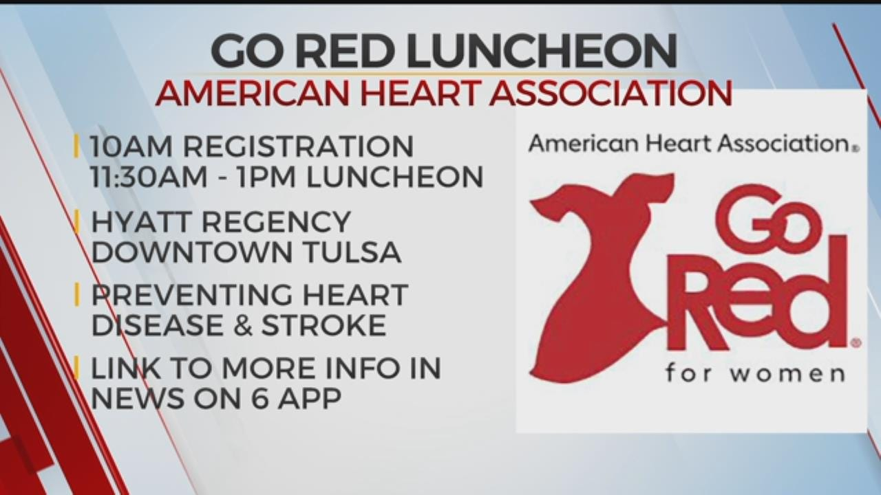 Tulsa 'Go Red For Women' Luncheon Set For Friday