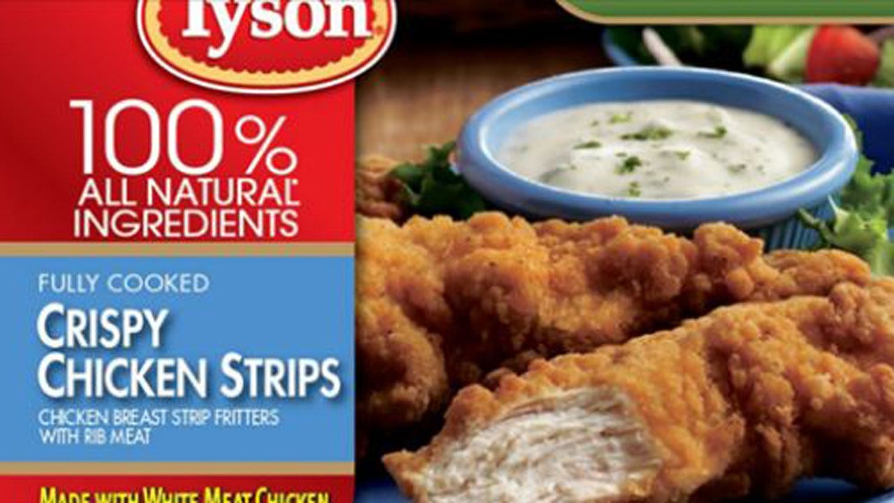 Tyson Recalls Nearly 12 Million Pounds Of Chicken Strips