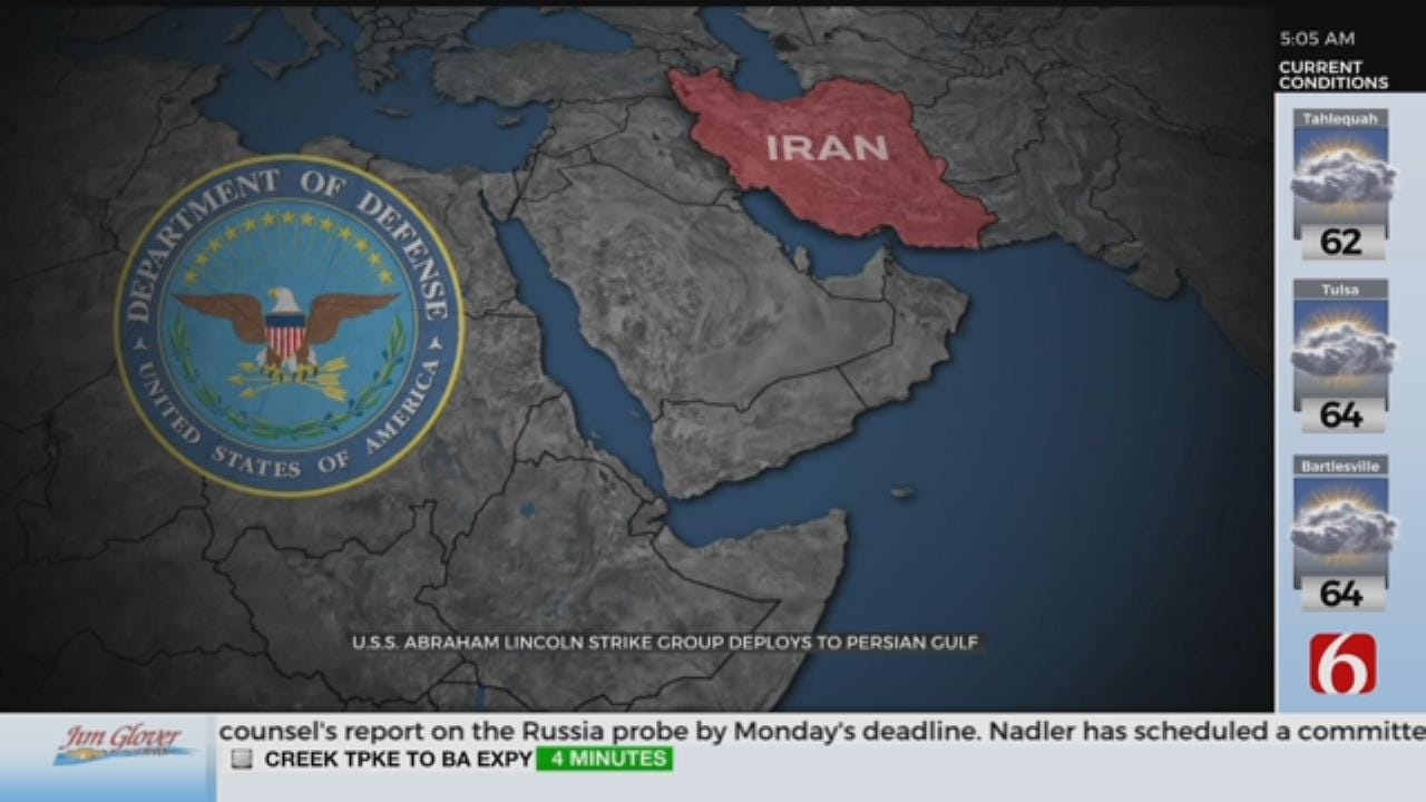U.S. Sending Aircraft Carrier, Strike Force To Mideast To Warn Iran