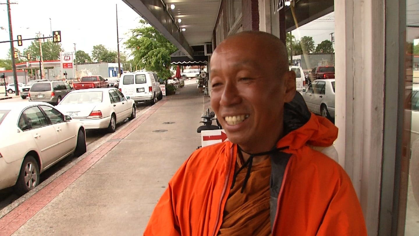 Buddhist Monk Makes Stop In Tulsa During Walk Across America