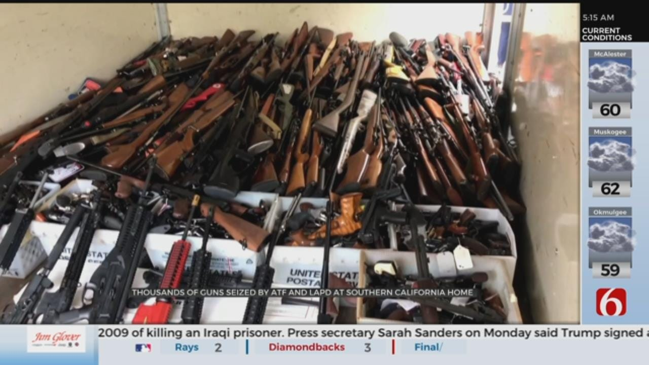 Massive Weapons Cache Seized From Home In Los Angeles Neighborhood