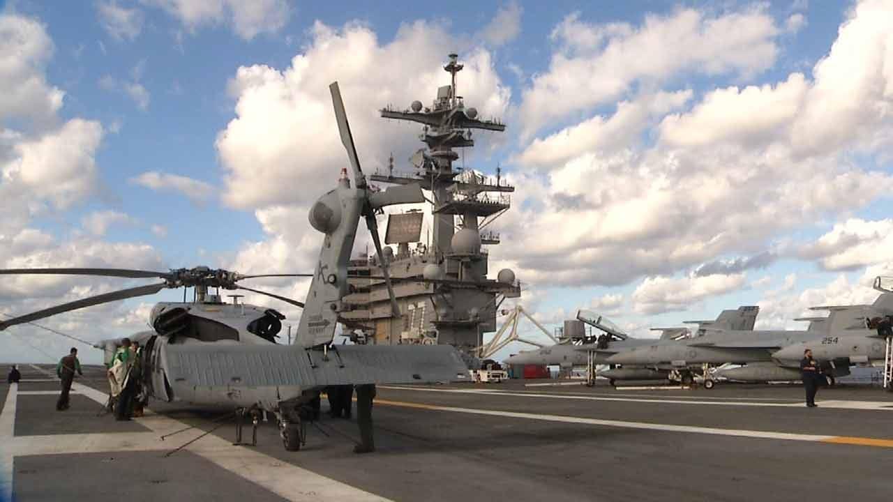 Oklahoma Sailors Train To Navigate Disaster On USS George HW Bush