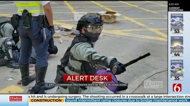 Police Shoot Hong Kong Protester; Fire Tear Gas