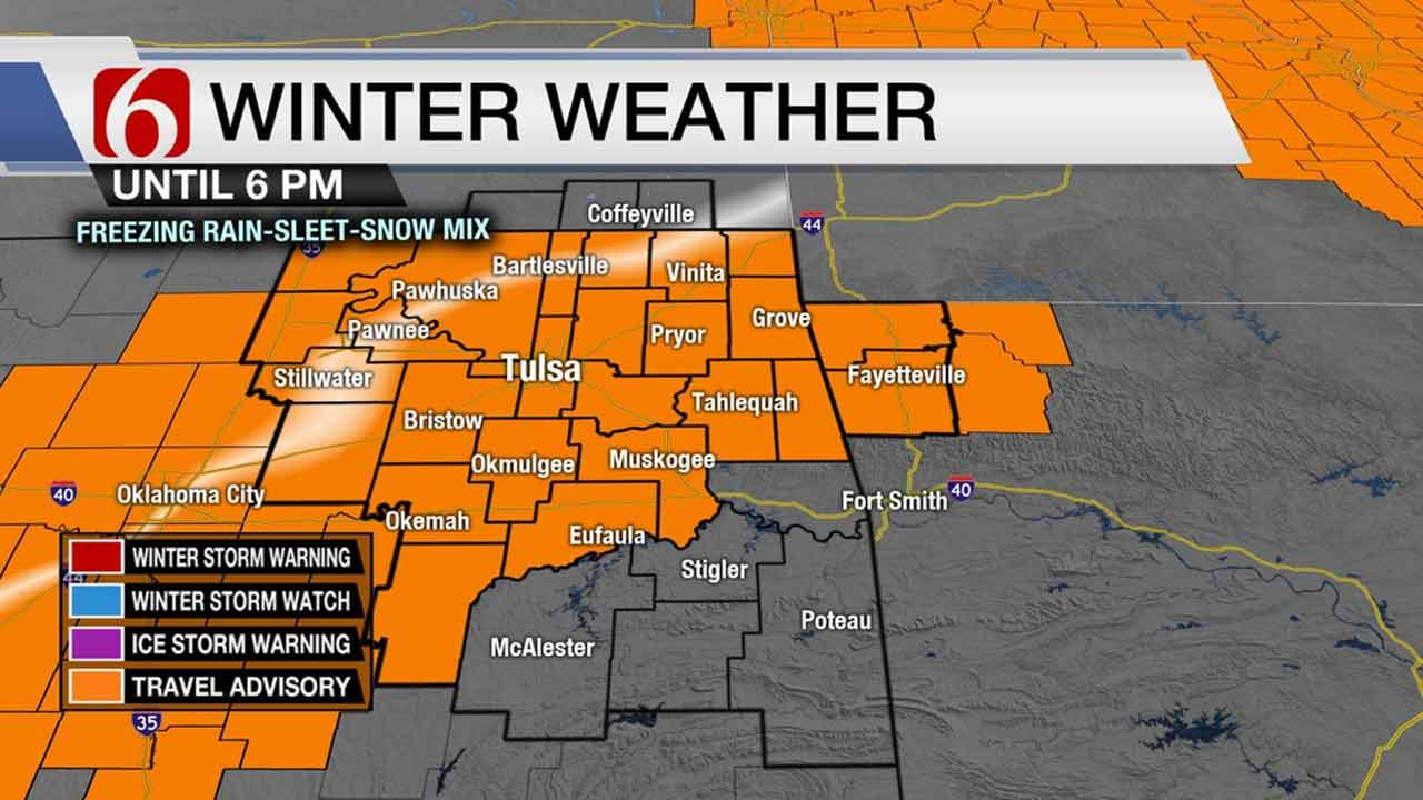 Winter Weather Advisory In Effect For Northeastern Oklahoma