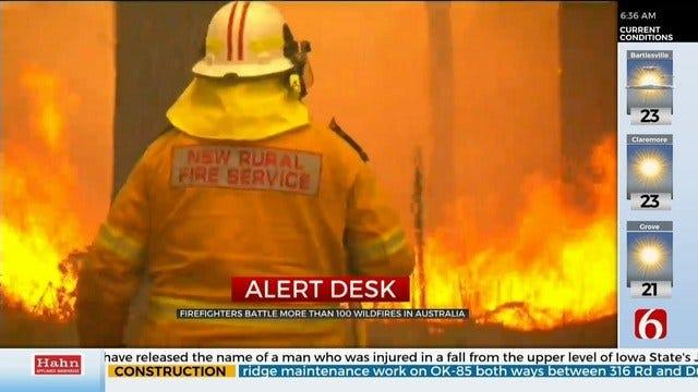 Australian Firefighters Battling More Than 100 Fires