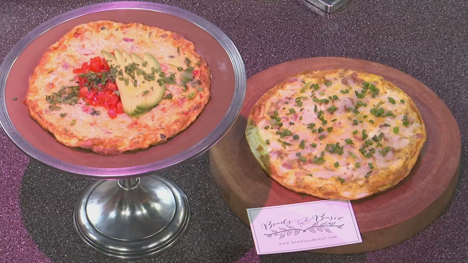 Roasted Vegetable Frittata With Asiago Cheese