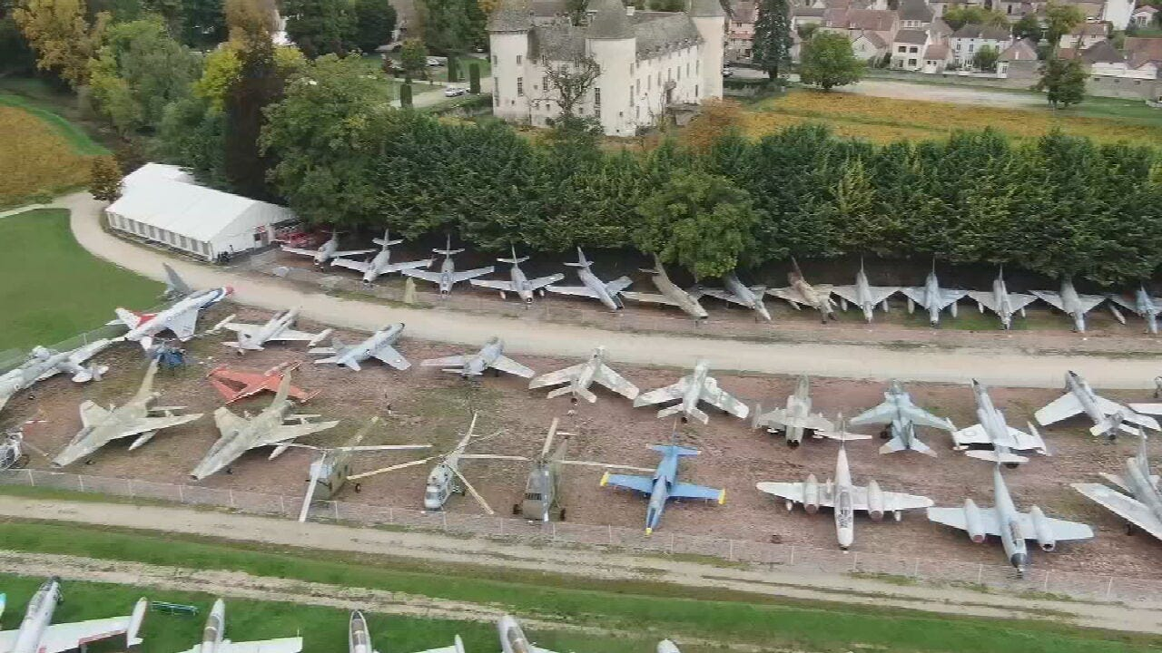 French Air Force Veteran Displays Huge Collection Of War Planes