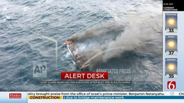 1 Dead, Nearly 1 Dozen Missing After South Korea Boat Fire