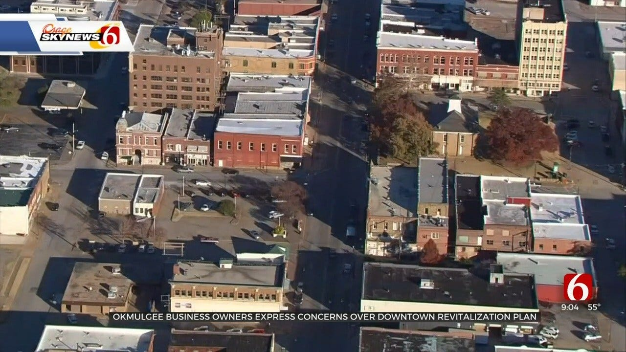 Okmulgee Business Owners Concerned Over Downtown Revitalization Plan