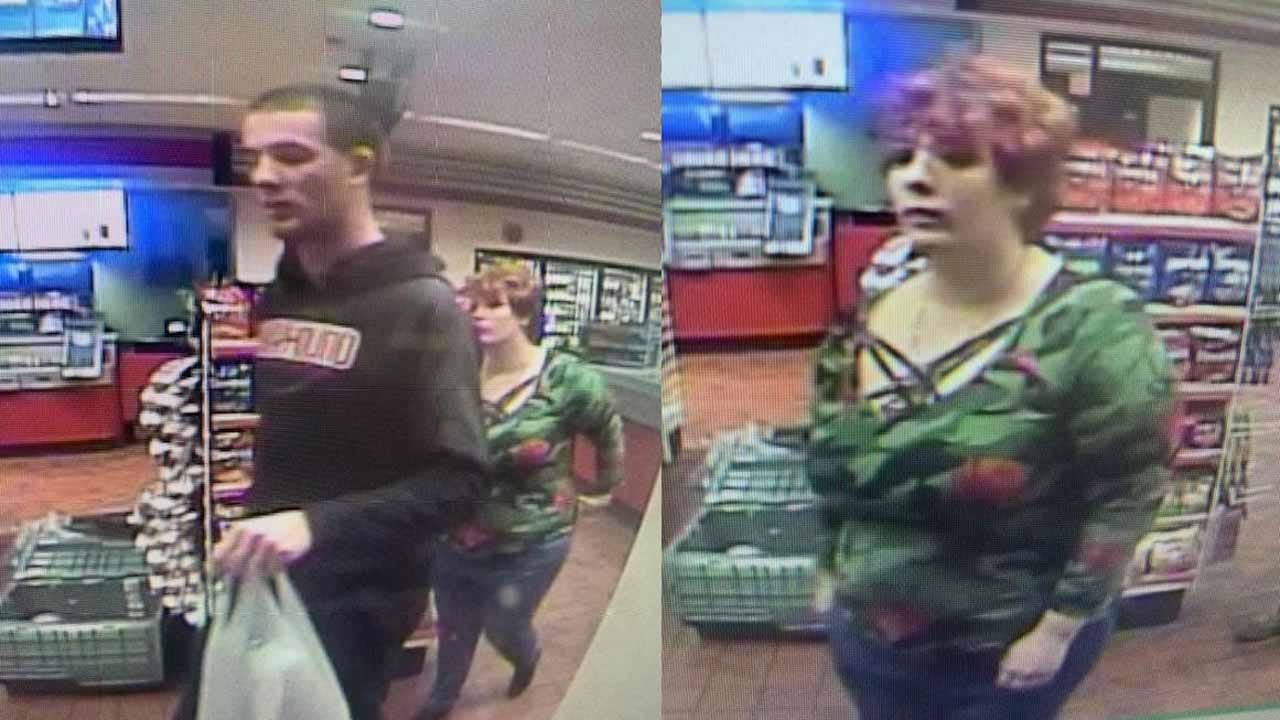 Tulsa Police Searching For 2 Suspects In Credit Card Theft