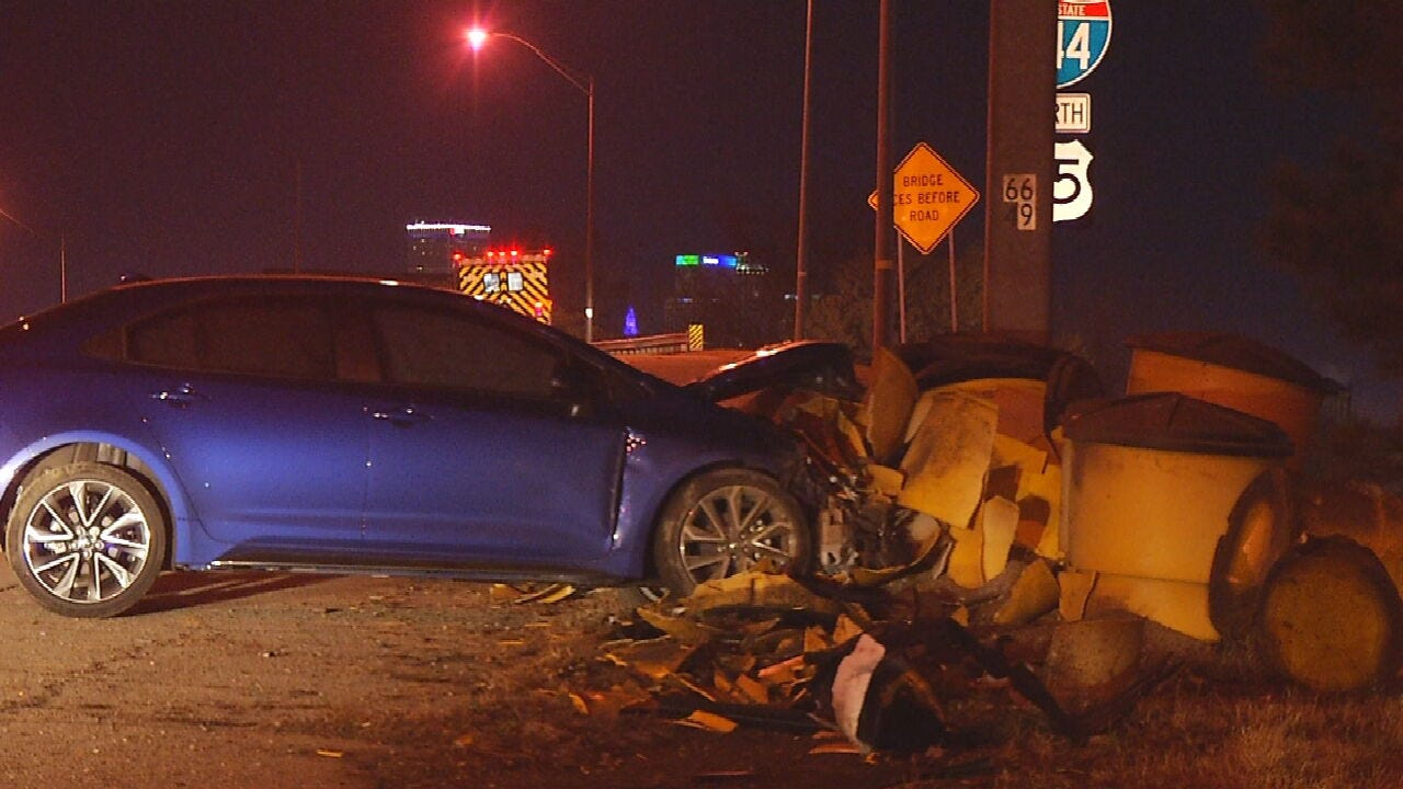 Woman Expected To Recover After Overnight Crash On Highway 75