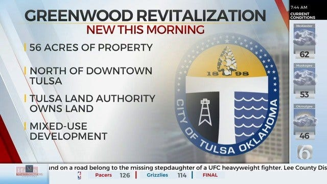 City of Tulsa Hopes to Revitalize North Greenwood Area