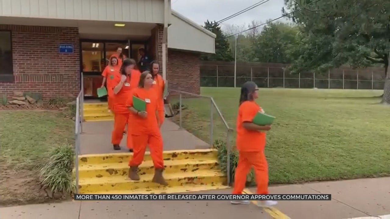 More Than 450 Inmates To Be Released After Gov. Stitt Signed Commutation Certificates