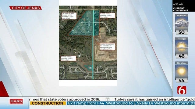 Jenks To Temporarily Shut Off Water For Water line Work