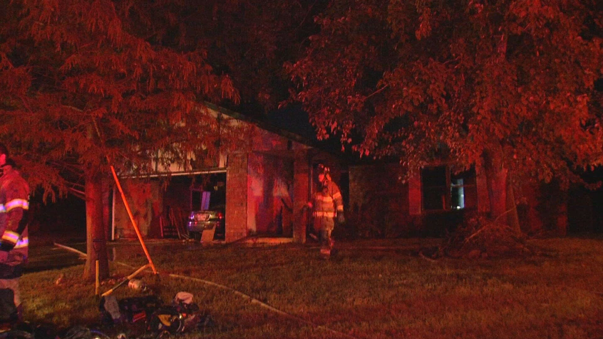 Broken Arrow Home Catches Fire Overnight; No Injuries Reported