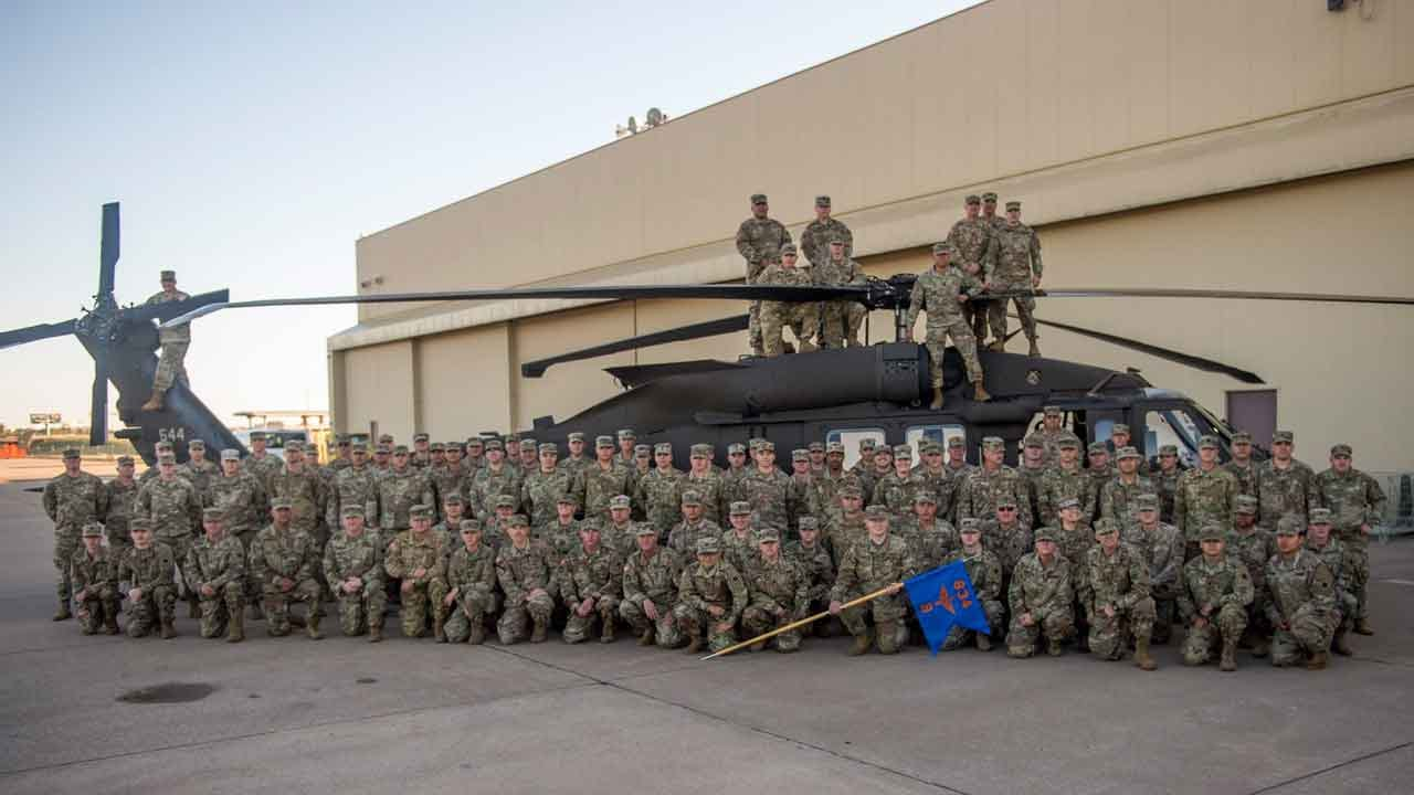 Sendoff Ceremony Held For Oklahoma National Guard Soldiers Deploying To Iraq, Kuwait