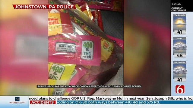 Police Urge Parents To Check Halloween Candy After THC-Laced 'Nerds Rope' Edibles Found