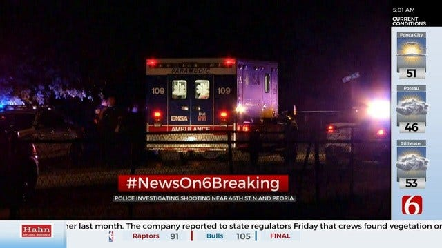 Tulsa Police Investigating Shooting, Robbery