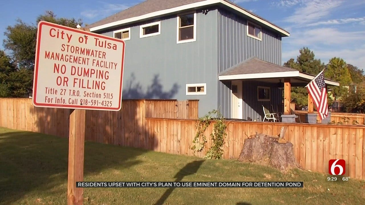 Tulsa Residents Upset For City's Plan To Use Eminent Domain For Detention Pond