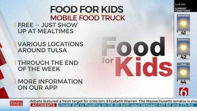 Food Bank To Provide Meals To Kids During Fall Break