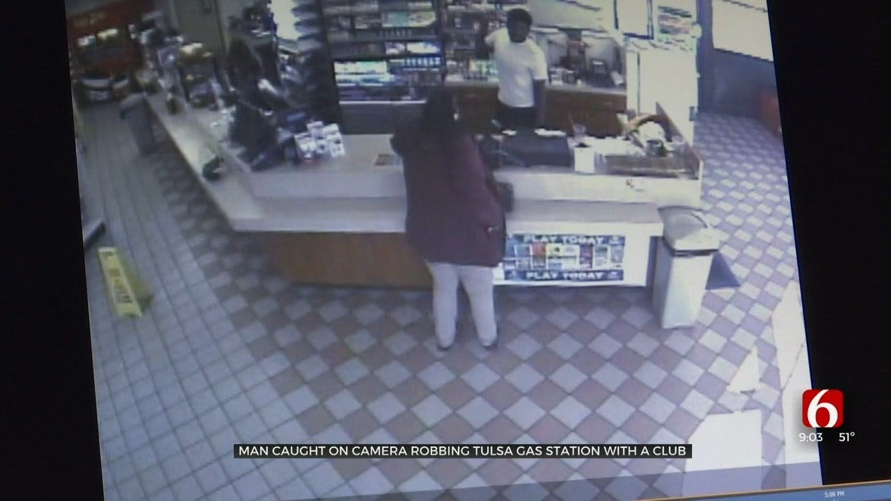 WATCH: Tulsa Police Need Help Identifying Man They Say Robbed A Kum & Go