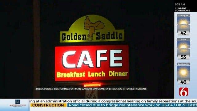 Burglar Hits Tulsa's Golden Saddle Cafe