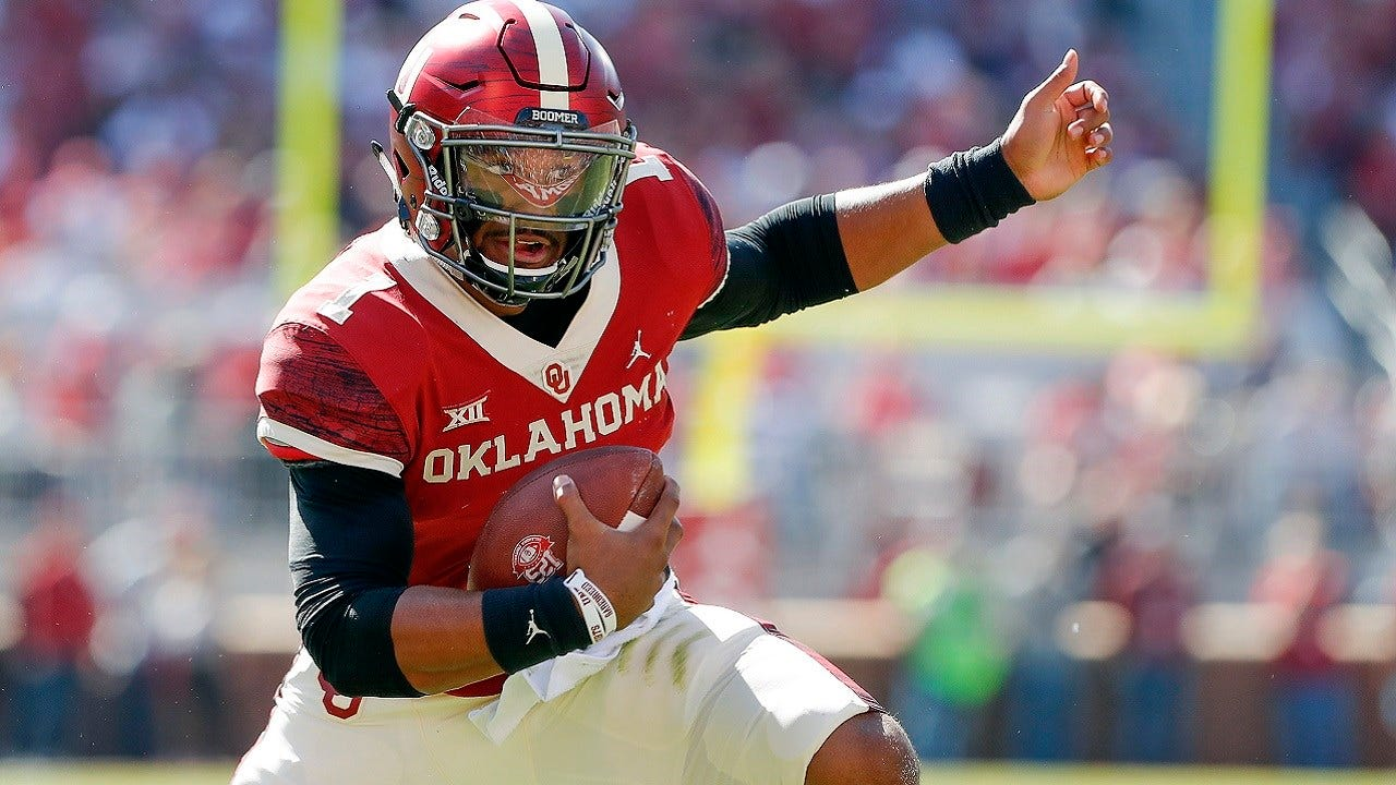 Hurts Leads Sooners Past West Virginia 52-14
