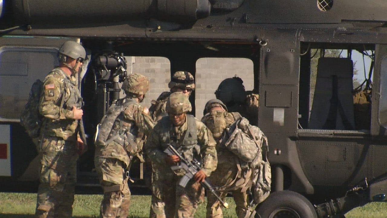 Oklahoma Army National Guard Unit Prepares For Deployment
