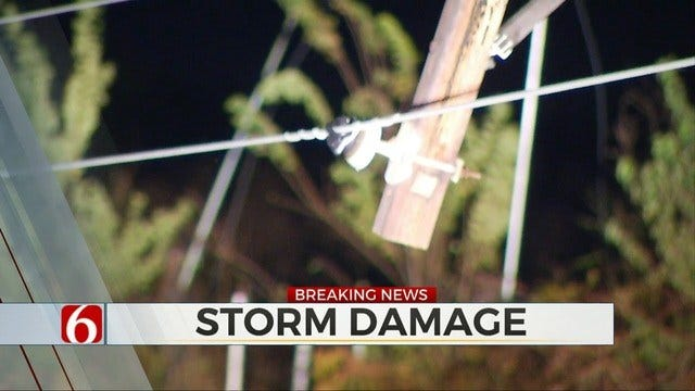 Severe Storms Leave Damage In Wagoner County