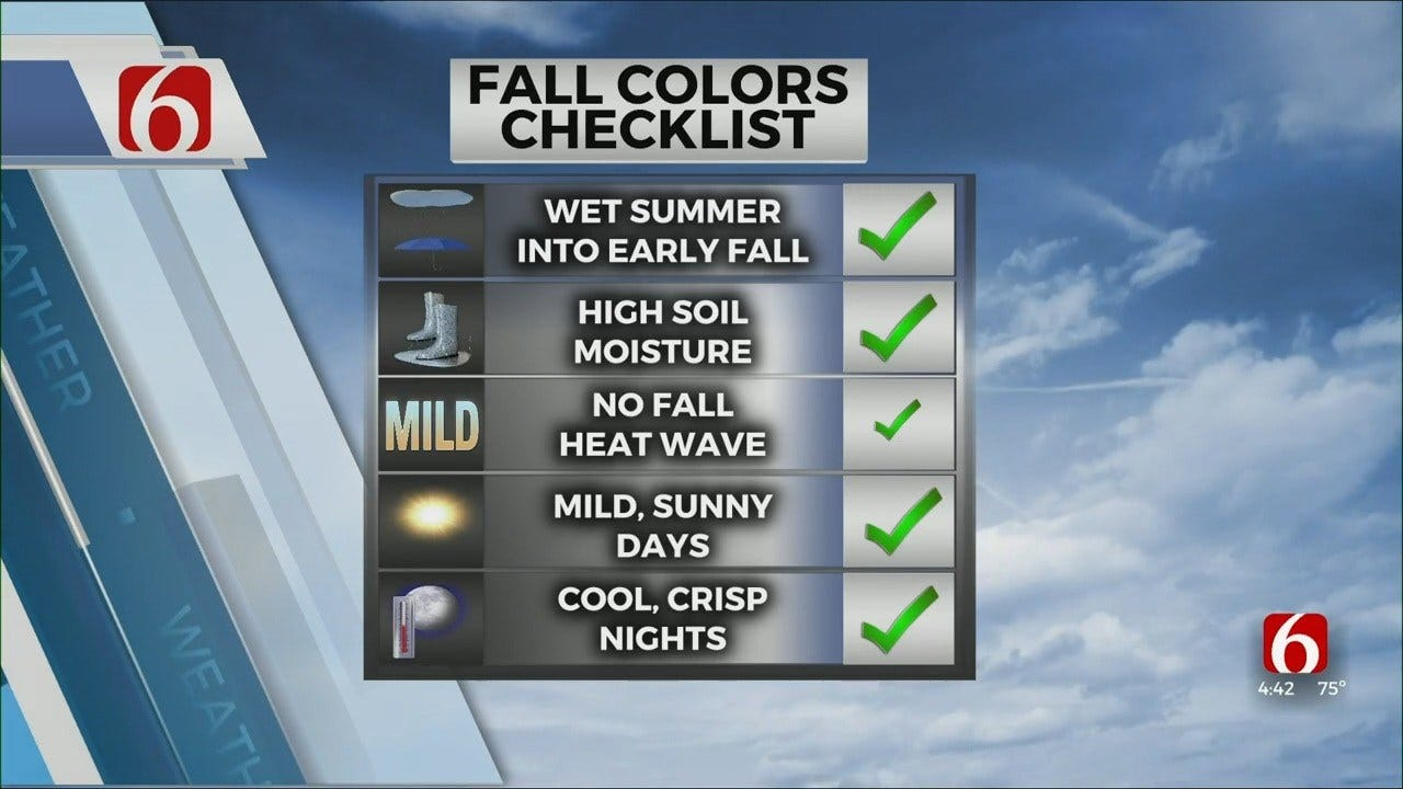 Fall Colors To Peak Near The End Of October