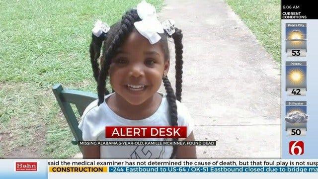 Missing 3-Year-Old Alabama Girl Dead, 2 In Custody