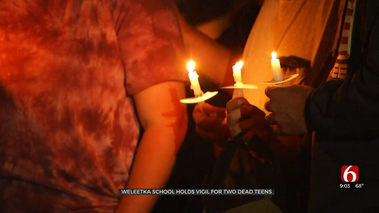 Weleetka Community Holds Vigil For Boys That Died From Apparent Carbon Monoxide Poisoning
