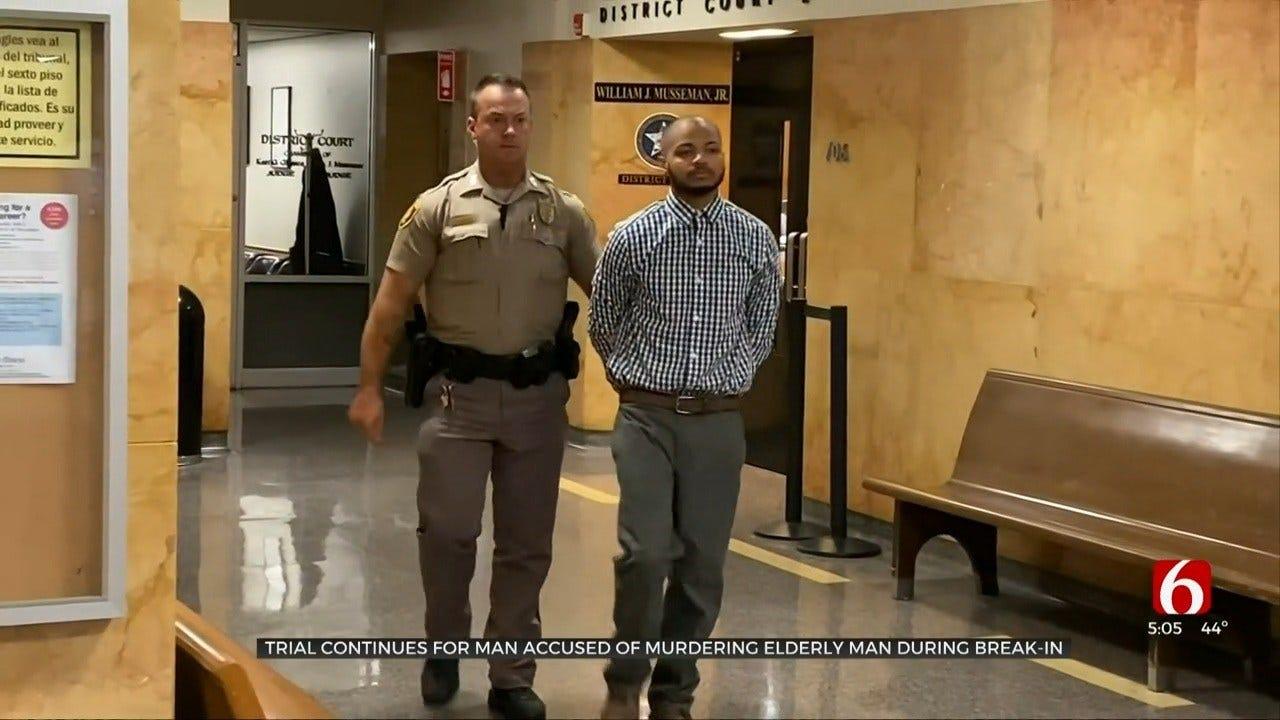 Accused Tulsa Man Blames Father For Elderly Man's Murder
