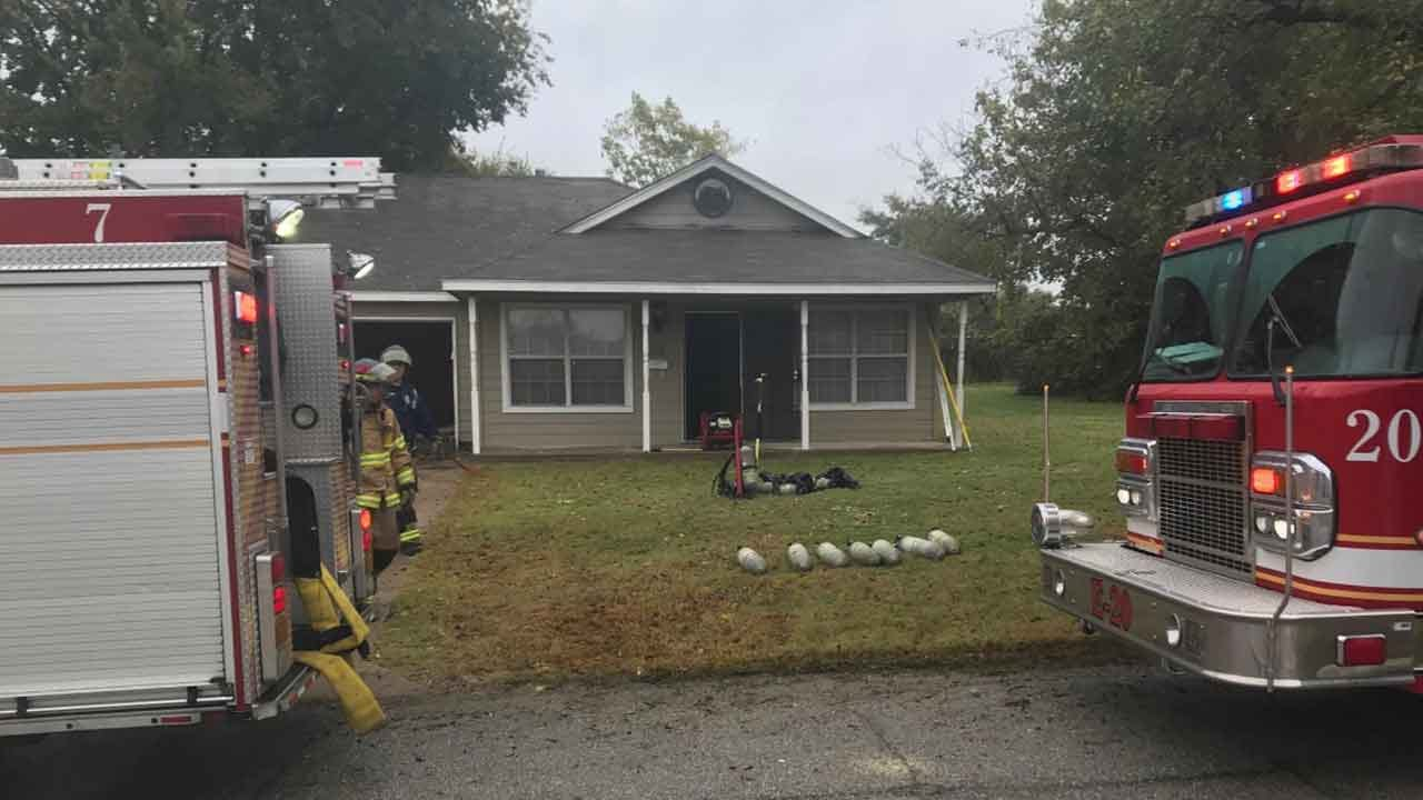 Tulsa Firefighters Battle House Fire On North Lansing